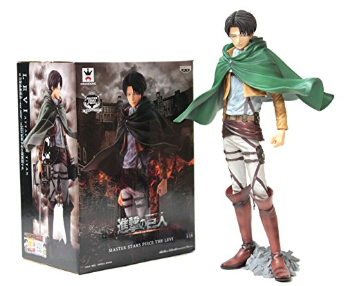 Banpresto Attack on Titan Master Stars Piece 49088 9.5\ Levi Ackerman Action Figure