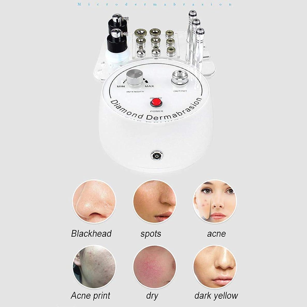 チューリップソロ敬の念個人的な家の使用のための1つのダイヤモンドのマイクロダーマブレーション機械、皮のスクラバーおよび反老化、剥離、にきびの美顔術の大広間装置に付き3つ