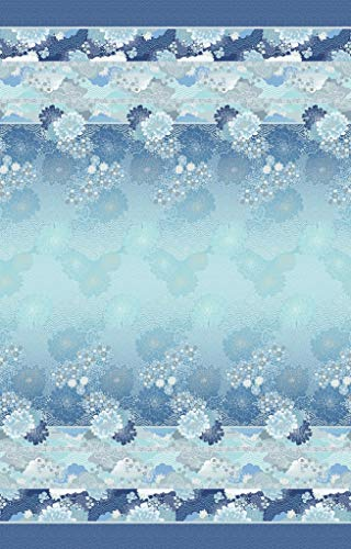 Bassetti Gesteppte Tagesdecke Madama Butterfly blau-B1, 240x255 cm