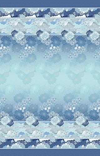 Bassetti Einrichtungsfoulard Madama Butterfly blau-b1, 180x270 cm