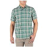 5.11 Tactical Hunter Plaid Short Sleeve Shirt Dusty Sage Pl M