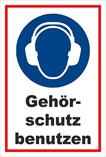 Stickers schild - Bodstekens - Gehoorbescherming gebruiken - komt overeen met DIN ISO 7010/ASR A1.3 - S00361-006-B +++ in 20 varianten verkrijgbaar