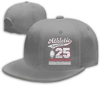 Xunulyn Adult Adjustable Structured Baseball Cowboy Hat Athletic Sport Typography University Football dept v Gray
