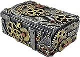 Prezents.com Boîte à bijoux mécanique, ornement détaillé pour les fans de fantasy et steampunk