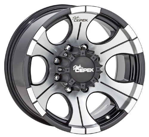 Dick Cepek DC-2 Gloss Black Wheel with Machined Finish, 20x12 inches (8 holes x 6.69 inches)