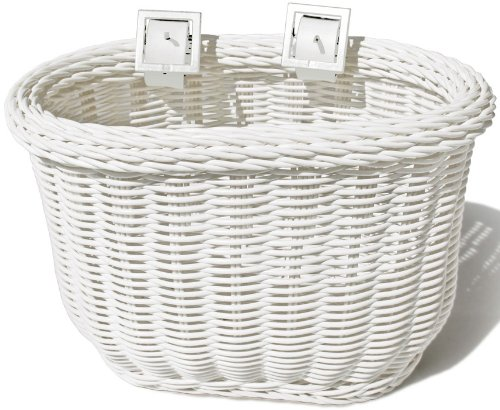 Colorbasket Kid's Front Handlebar Bike Basket,White