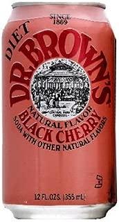 Dr Brown Black Cherry Diet Soda, 12 Ounce - 6 per Pack - 4 Packs per case.