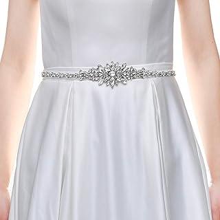 HONGMEI حزام الزفاف لفستان العروس مع أحجار الراين واللؤلؤ أحزمة وصيفة العروس للنساء فساتين