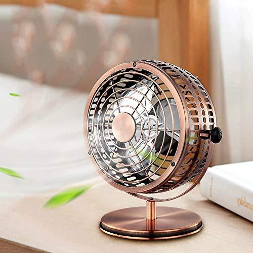 Haojie Ventilador pequeño de 6 Pulgadas Antigua Ventilador de Ventilador de Metal Ultra Tranquilo Mini Fan de la ventiladora.