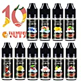 Ovuul Vape E-Liquides Cigarettes électroniques,10 x 10ml Arome Concentré Good Goûts à e-cigarette Fresh DIY (Pastèque,Cerise,...