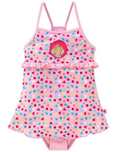 Schiesser Mädchen Einteiler, Badeanzug, Gr. 128, Rosa (rosé 506)