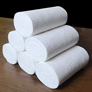 Toilet Paper,Safe Paper Towels Daily Soft Toilet Paper Bulk For Home Kitchen 8/10 Rolls Skin-friendly Supple (Color : Whit...