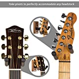 String Swing Guitar Hanger – Holder for Electric Acoustic and Bass Guitars – Stand Accessories for Home or Studio Wall - Musical Instruments Safe without Hard Cases - Black Walnut Hardwood CC01K-BW