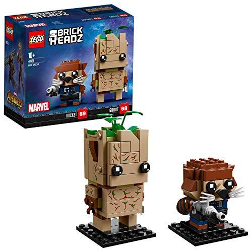 LEGO- Brickheadz Avengers Infinity War Groot E Rocket Costruzioni Piccole Gioco ino, Multicolore, 5702016176476