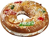 Roscón de Reyes relleno de Nata 100% – 800 Grs – 6 / 8 raciones – Incluye Haba, Figurita de...