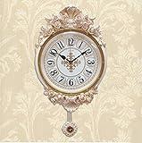 Wall Clocks Orologio da parete campana famiglia pendolo Stile europeo soggiorno silenzioso orologio stereo di lusso creatività moderna orologio da parete con orologio da parete con rose garden B