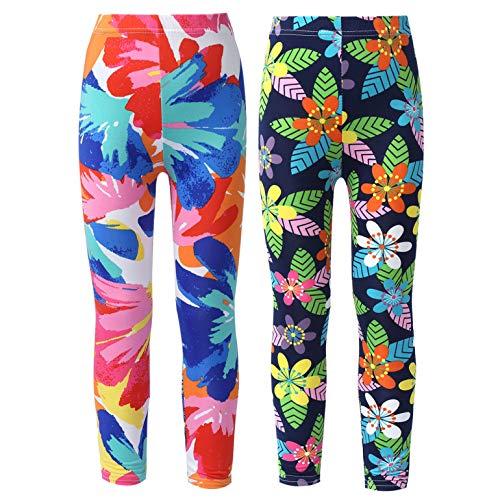 dPois 2 Packs Leggins Niñas Leggings Mallas Pantalones Largos Leggings Estampados para 3-10 años Multicolor C 3-4 años