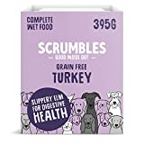 Scrumbles Natural Wet Dog Food, Grain Free Recipe with 70% Turkey and Slippery Elm, 7x 395g