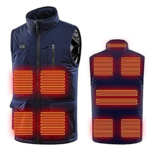 WANGTIANXUE 11 Zonen Beheizte Weste Elektrisch Heizweste für Herren und Damen, Beheizbare Weste Beheizte Jacke mit 3 Fakultativ Temperatur Heizjacke für Körperwärmer bei Outdoor Jagd Wandern Motorrad