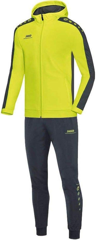 JAKO Fuball Trainingsanzug Polyester Striker mit Kapuze Kinder Jacke Hose grün grau