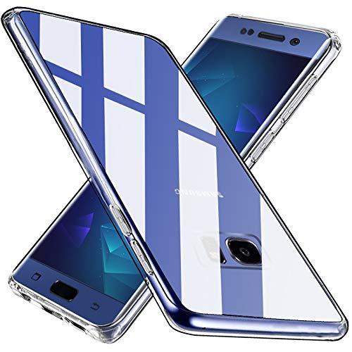 Wlife Crystal Clear Kompatibel mit Samsung Galaxy S7 Hülle, Transparent Stoßfest Anti-Gelb Anti-Kratzer Dünn Handyhülle Slim PC mit TPU Silikon Rahmen Durchsichtige Schutzhülle Samsung Galaxy S7 Case