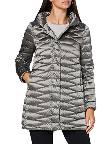 Geox W Jaysen Capa de Pluma, Dark Cloudy Grey, 50 para Mujer