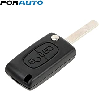 Car Key Shell for Peugeot 107 207 307 307S 308 407 607 Replacement Flip Folding Uncut Key Blade Remote 2 Button