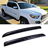 LUJUNTEC Aluminum Roof Mounted Roof Rack Cross Bar Set Fit for 2005-2019 Toyota Tacoma Double Cab Top Rail Carries Luggage Carrier