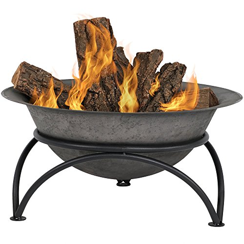 Sunnydaze Small Outdoor Fire Pit Bowl -...