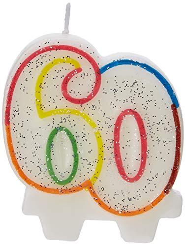 amscan 9900813 7.5 cm Milestone Bougie d'anniversaire 60 Ans