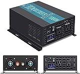 WZRELB 1000W 24V 120V Pure Sine Wave Power Inverter with 2 AC Outlets,Car Inverter