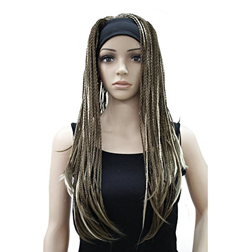 Lydell Braided Wig Afro Long Synthetic Wig Fully Hand Tied Twist Braided Wigs