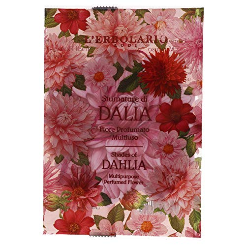 LErbolario L'erbolario multipurpose perfumed flower sachet - shades of dahlia - citrus, floral scent - keep drawers, wardrobe or car fragrant and fresh - 1 piece