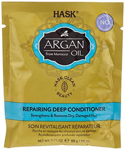 Hask Huile d'argan Soin cheveux Traitement revitalisant Intense, 50 g
