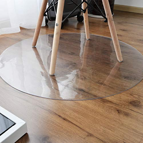 Jiamuxiangsi tapijten PVC stoelmat antislip harde vloerbescherming | rond hoogtransparant | Diameter 80/90/100/120 cm tapijten en pads