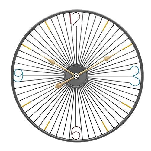 YJSMXYD Wanduhren,Uhren 20 Zoll 50 cm Kreative Einfache Fahrradfelge Eisen Art Mute Schwarz Genaue Zeit Stille Modernen Stil Gut Für Home Küche Wohnzimmer Schlafzimmer