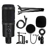 LSWL USB Soporte de micrófono de Condensador de grabación con el micrófono por Mac PC portátil Karaoke Transmisión de Voz Twitch Podcasting for Youtube (Color : D80 7)