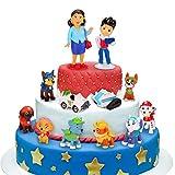 Sinwind Paw Dog Patrol Tortenfiguren, 12er Paw Dog Patrol MiniFiguren Tortendeko, Cake Topper, Geburtstags Party liefert Cupcake Figuren, Party Kuchen Dekoration Lieferungen, Tortendeko Junge