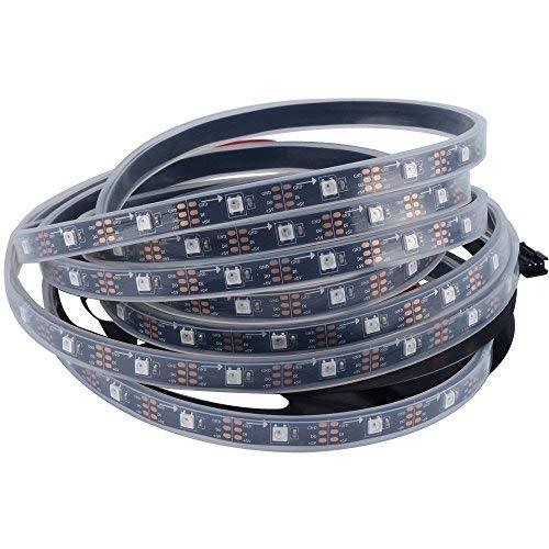 CHINLY 5m 150leds WS2812B Individuell adressierbar LED Streifen Licht SMD5050 RGB 150 Pixels Traumfarbe Wasserdicht IP67 Schwarz PCB 5V DC