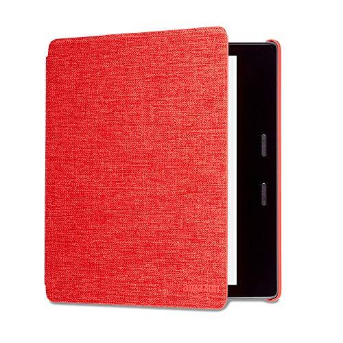 Funda Amazon de tela que protege del agua para Kindle Oasis , rojo — únicamente compatible con el modelo de la 9.ª generación (modeli de 2017) y 10.ª  generación (modelo de 2019)