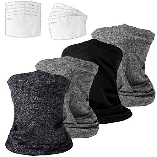 Hicdaw 14Pcs Neck Gaiters Bandana with Filters Bandanas Scarf for Men Women Outdoors Sports Balaclavas Multi-Purpose Headscarf Anti-UV Face Cover