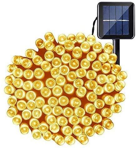 Luci Natale Esterno Solare, OxyLED 22M 200 LED Catena Luminosa Solare Luci Stringa Impermeabile da Giardino Impermeabile per Natale Halloween Festa Matrimoni Ricevimention (Bianco caldo)