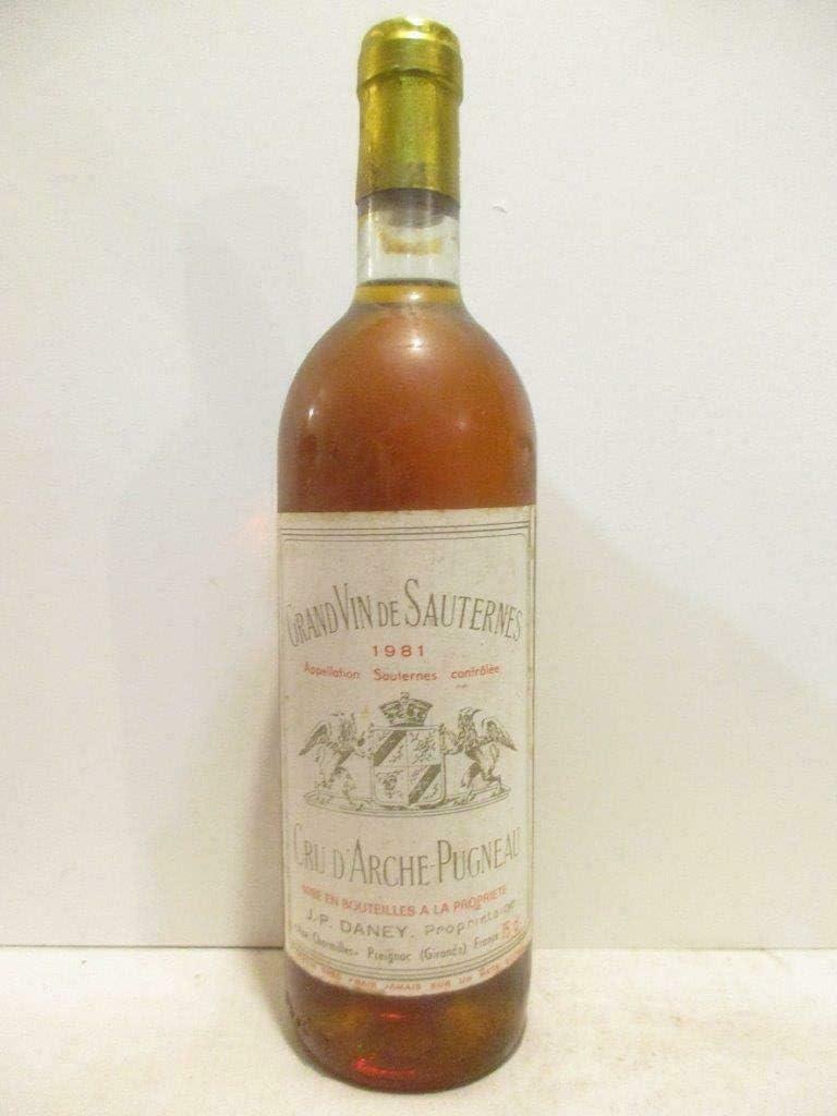 sauternes cru d'arche-pugneau liquoreux 1981 - bordeaux