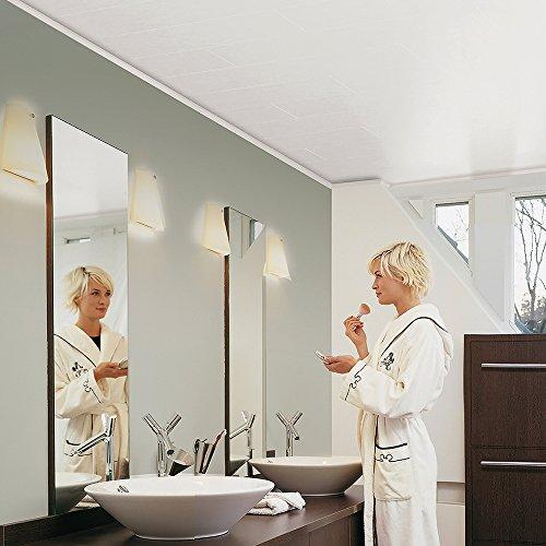 Avanti Aqua Wandpaneel und Deckenpaneel für Feuchträume Superweiß matt 1190 x 199 x 10 mm