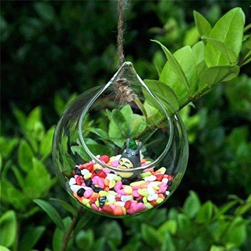 RAQ Hangende glazen bol vaas bloemenplant pot terrarium container party huwelijksdecor Ball vorm 12 cm
