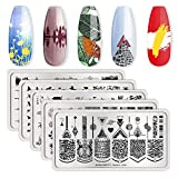 BORN PRETTY Rectangle Nail Stamping Plates Nail Art Stencil Fashion Power Wild Charm Texture Wild Charm Texture Autumn Texture Theme