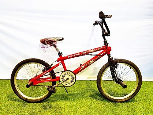 SCHIANO Scorpion Freestyle BMX-Fahrrad, 20 Zoll, Rot