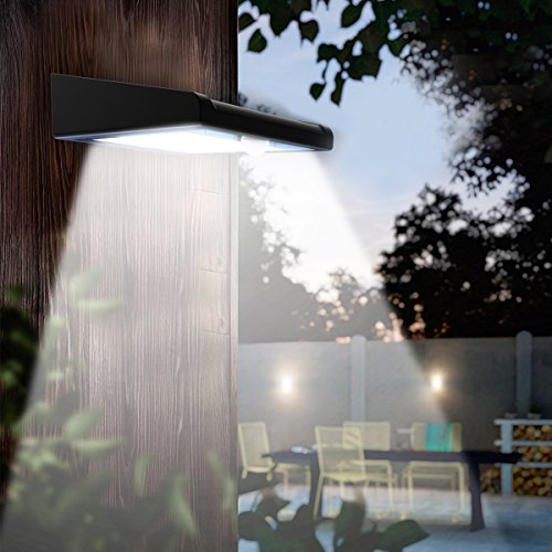 2 Pack 30 LED Solar Lights Outdoor, Avaspot【Upgraded Version】Solar Powered Security Light, Wireless Waterproof Motion Sensor Solar Light, Outdoor Wall Light for Patio, Deck, Garden, Garage