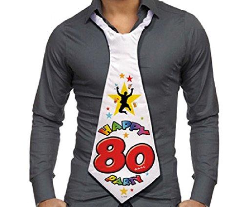 CRAVATTONE 80 ANNI - Cravatta Gadget idea regalo festa 80° Compleanno uomo