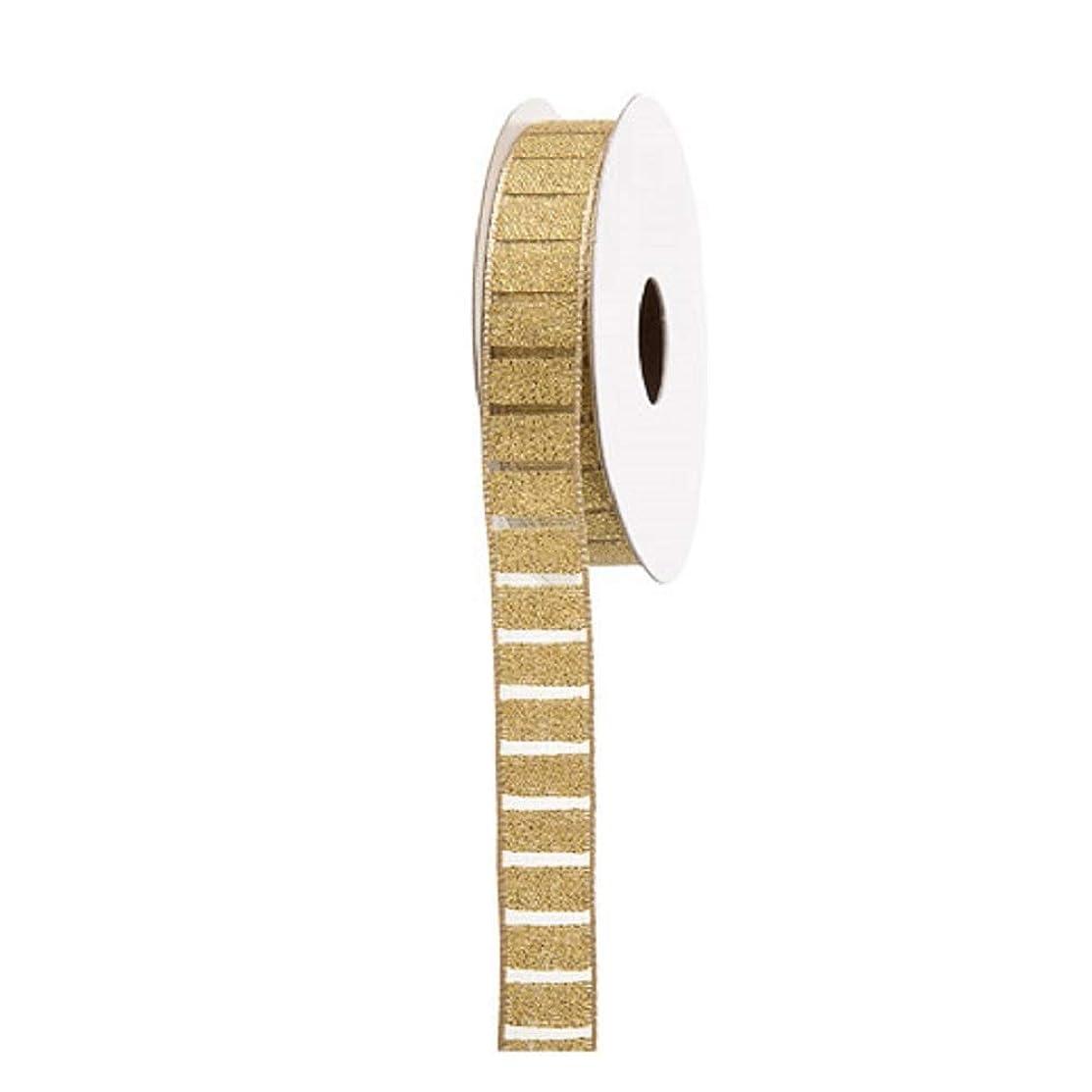 Darice Metallic Gold Plaid Ribbon: 0.63
